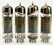 Rca For Dynaco 6bq5 Grey Plate Halo Getter Matched Vacuum Tubes Set Of 4