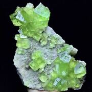 1538g Extreme Transparent Bright Green Trapezoidal Fluorite And Flake Calcite