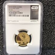 2016 Niue G25 Star Wars Gold R2-d2 Pf69 Early Releases Ultra Cameo