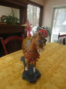 Stunning Antique Carnival Horse Pull Toy