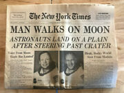 Lot Of 3 Vintage Newspapers Man On The Moon Full Editions