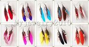 Wholesale Lots 50pairs Dangle Bohemia Feather Silver P Earrings Jewelry Free