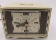 Vintage General Electric Alarm Clock Retro Time Plug In Lighted Dial Made In Usa