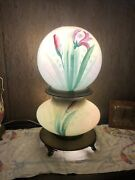 Rare Hand Painted Victorian Table Parlor Lamp Gone With The Wind With Bronze