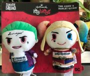 Hallmark-itty Bittys-the Joker And Harley Quinn-suicide Squad-dc-plush-set Of 2
