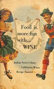 Vintage Italian Swiss Colony California Wines Recipe Booklet Lithographs Cpd67