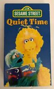 Sesame Street Quiet Timevhs 1997tested-very Rare Vintage-ships N 24 Hours