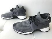 18p Gray Stretch Fabric Lace-up Sneakers Cc Logo 36.5 Grey Black White