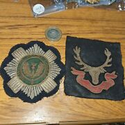 2 Scots Guards Padded Embroidered Bullion Cloth Blazer Badge Patch