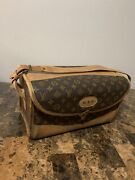 Louis Vuitton French Company Vtg Train Case Make-up Cosmetic Bag Gorgeous Rare