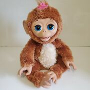 Hasbro Furreal Friends Cuddles 17 My Giggly Pet Monkey Tested Working Talking