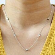 Dainty Diamonds By The Yard Necklace In Platinum 1.05ctw 18