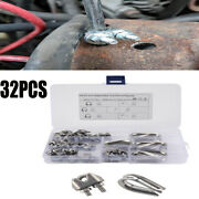 32 Pcs M3 Stainless Grip Clamp/clips Andndash Wire Rope Lashing Cable M6 U Bolt Nut