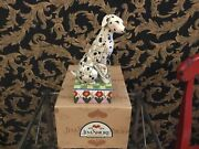 """Jim Shore Spot""""hand Signed Dog Figurine New W / Box And Tag"""