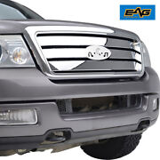 Eag Replacement Grille Front Upper Grill W/shell Fit 04-08 Ford F150 Chrome
