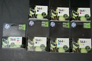 Lot Of Hp 564/564xl Black And Color Ink Cartridges Factory Sealed Genuine Free Sandh