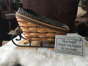 1997 Longaberger Large Sleigh/vegetable Basket Wrought Iron Runners And Protector