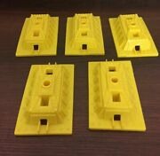 Vtg Mighty Mike Remco Toy Camelback Skyway 5 Pc Lot Base Supports Yellow 7007