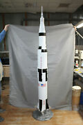 150 Scale Model Of Legendary Moon Rocket Saturn V Made Of Composite 90 Tall