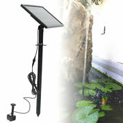 9v 8w Garden Solar-power Floating Water Fountain Pump Panel Kit Waterscape Decor