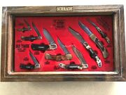 Schrade Cutlery Usa 1982 Display - 9 Knives - All W/boxes - Unused