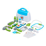 Kids Doctor Play Pretend Medical Baby Checkup Set Kit Carry Bag Case Toddler Toy