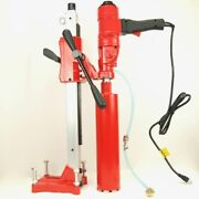 Bluerock Tools Andreg 4z1ws Concrete Coring Drill W/ Stand And 1-4 Core Bit Set