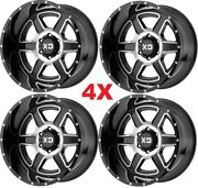 Xd Gloss Black Machined 20x10 Wheels Rims Tires 8x180 2500 3500 Fuel Monster Hd