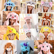 Plush Hat Rabbit Stitch Unicorn Mouse Fluffy Pinching Cap Ear Can Move Airbag