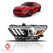 Fits 2015-2017 Ford Mustang Headlight Hid Led Tube Projector Driver Left Side