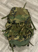 Us Military Woodland Camouflage Combat Field Pack Large With Internal Frame