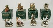 Lot Of 8 David Winter Cottages Christmas Ornaments