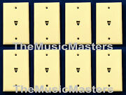 8x Ivory Modular Home Phone Wall Plate Jack Telephone Line Outlet Cover Vwltw
