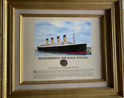 Remembering The Rms Titanic Framed Collectible With 1912 Coin