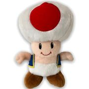 Nintendo Super Mario Brothers Toad Plush Toy Doll Red With Blue Vest 102010
