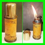 Unique Vintage Figural Duck Call Petrol Lighter Tack'n Hammer Bothell Wa. Workin