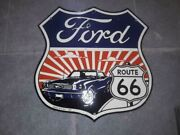 Porcelain Ford Enamel Sign Size 30 X 30 Inches Double Sided