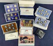 Lot Of 6 Us Mint Coin Sets And America The Beautiful Quarters Proof Set - F.s Usa