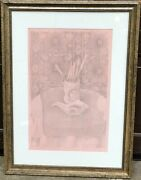 Dundee Marmalade Jar Still Life Pink Silverpoint Drawing-1991-august Mosca