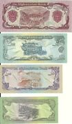 Set Of 4 Mint Afghanistan Notes 10 / 20 / 50 / 100 - Free Uk Pandp