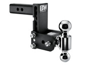 Bandw 10000lbs Black Tow And Stow 2 Ball Trailer Hitch With 5 Drop - 2 Receiver