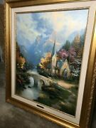 The Mountain Chapel By Thomas Kinkade Painting S/n Le Condition