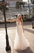 Muse By Berta Cindy City Of Angels Wedding Dress Gown Bridal Size 44 Style 19-42