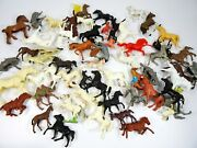 Toy Horses Lot Of 50pc Vintage Race Horse Figures Some Lido
