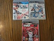 Mlb 12 Theshow, Madden Nfl 13 And Nba 2k14 Ps3 Video Game Lot - Used