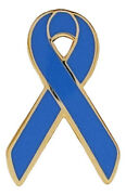 1000 Lot New Royal Awareness Ribbon Pins - Child Abuse / Police Support
