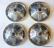 1965 Ford Mustang Set 4 Spinner Hub Caps 14 Hubcaps 65