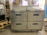 Delfield 48andrdquo 4 Drawer Sandwich Prep Table Cooler Used