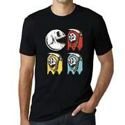 Ultrabasic Graphic Menand039s T-shirt - Scary Pacman Skull - Game Shirt For Halloween