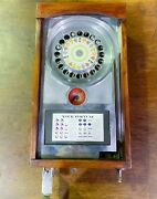 Rare Antique Wood Bally Pinball Roulette Penny Arcade Fortune Telling Machine